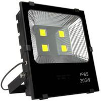 su geçirmez dış mekan projektörü toptan satış-Beyaz 200 W LED Sel Işıkları AC 110-240 V dış aydınlatma Su Geçirmez ip65 Spot Su Geçirmez Dış Duvar Lambası Projektörler