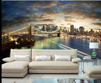 Wholesale Backdrop City - Refreshing sunset bustling city night background wall mural 3d wallpaper 3d wall papers for tv backdrop