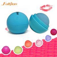 Hot selling Ball Lip Balm Lipstick,Organic Ingredients Lip Protector Sweet Taste Fruit Embellish Makeup Lipstick Gloss for mouth to lip