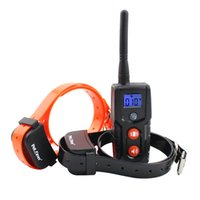 Wholesale Dog Two Collar - Dog training collar rechargeable and watreproof for 1 or 2 dogs with static shock  vibration  beep  light