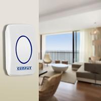 musikklänge großhandel-Smarthome Wireless Türklingel Chime Plug-in Push Button mit LED-Anzeige Eingebaute Musik 36 Chimes für Home Office