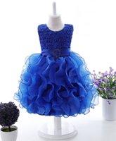 Wholesale Theatrical Dresses - 2017 new a Children dress skirt Tutu princess dress baby children theatrical costumes flower girl dresses