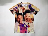 sublimation printing shirts 도매-진짜 미국 크기 2 스타일 맞춤 집 파티 3D 승화 인쇄 T- 셔츠 남여 의류