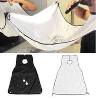 siyah beyaz önlükler toptan satış-Yetişkinler Sakal Kırpma Catcher Kesme Pelerin Berber Tıraş Burunları Beyaz Siyah Dikdörtgen Erkek Banyo Sakızlar Önlük Yeni 5 5mn R