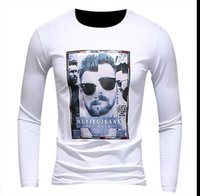 Neue Art- und Weisemarken-Tendenz-Druck-heiße Verkaufs-klassische Mannhemd-lange Hülse O-Ansatz Mens-T-Shirt Baumwollt-shirts Tops Mens-Marken-T-Shirt plus Größe Sweat