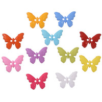 Wholesale butterfly accessories sales for sale - Hot sale Plastic Mixed Color Butterfly Style Sewing Buttons mm Scrapbooking Holes DIY Accessories
