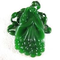 joyas auspiciosas al por mayor-Bellamente Hetian jade Ruyi colgante natural jade verde auspicioso colgante de joyería al por mayor