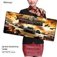 Wholesale Rubber Computer Keyboards - Tank World Large Size Mouse Pad Custom Black Precision Lock Side Anti-slip Office Notebook Computer Keyboard Game Pad