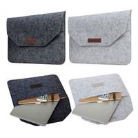 Wholesale 13 Macbook Pro Sleeve Handle - Slim Wool Felt For Macbook Pro Retina 13 15 Sleeve Bag Notebook Flip Laptop Cover For Macbook Air 11 12 13 Handle Case