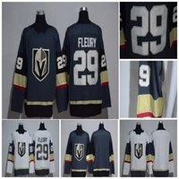 Wholesale Knight Wear - hot 2017 18 New Brand 29 Marc-Andre Fleury Sports Wear New Vegas Golden Knights Jerseys Stitched Gray White Blank No Name No Number