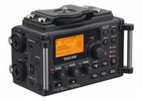 Wholesale Dhl Linear - Wholesale- 2014 Brand Original Tascam DR-60d professional Linear PCM Recorder Mixer DSLR VIDEO SHOOTER For DSLR SLR Camera DHL EMS shipping