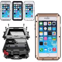 """Wholesale I5 Phone Gold - For IPHONE 6P 6S 7 7Plus 4.7"""" 5.5 inch good quality Heavy Duty Shock Drop Waterproof Aluminum Metal Phone Cover Protection case for i5 5S"""