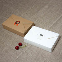 Wholesale Wedding Food Boxes - 19.5cmx12.5cmx4cm Kraft Paper Gift Box Envelope Type Cardboard Boxes Sugar Package For Wedding Party Festival ZA3861