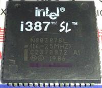 ingrosso componenti del transistore-N80387SL. (16-25 mhz) i 387 SL, vecchio microprocessore / cpu vintage - 80387. Pin PQCC68, componenti integrati / IC