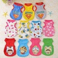 Wholesale Puppy Breathing - Puppy dog clothing mesh vest breathes more than bear clothes spring and summer wear thin cat pet clothes