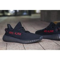 Wholesale Stripe Color Flats - New Sply-350 CP9652 350V2 Core Black Color With Red Stripe Kanye West Fashion Sneakers, Men Women 350-Sply Real Boost With Box Outdoors