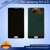 Wholesale Galaxy Note Screen Assembly - Good Quality Brand New Galaxy Note 4 Black LCD Display Touch Screen Digitizer Assembly & Free DHL Shipping