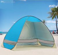 Wholesale Cheap Outdoor Tents - Wholesale-Outdoor Cheap Camping Waterproof Rain-proof Sun Shelter Awnings Anti-UV Semi-open Half-open Beach Sunshade Tent Free Shipping