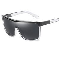 büyük plastik kutular toptan satış-Retro Kadın Erkek Güneş Gözlüğü Büyük Kutu Çerçeve Boy Gözlük Plastik Film Açık Havada Gözlüğü Oculos De Sol Feminino UV400 Y152