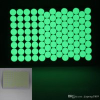 Wholesale Scrapbooking Dots - 100pcs lot Glow in Dark Round Dots Stickers Toy Luminous Circles Sticker Fluorescent Scrapbooking Diary Decorations Labels