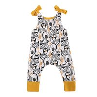 Wholesale baby penguin clothing for sale - Group buy Boutique Newborn Romper Baby Sleeveless Cotton Romper Baby Clothes Children s Clothing Cartoon Penguin Printed Kids Girl Boy Jumpsuit