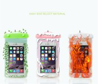 Wholesale Baseball Covers For Iphone - 2017 For iphone 6 Universal Cartoon Clear View Waterproof Case Cover Bag Water Proof Diving Underwater Pouch For i6 6plus Samsung