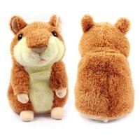 Mímica De Felpa Baratos-Mimicry Talking Hamster Repite lo que dices The Cute Plush Animal Toy Electronic Hamster Mouse