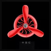 Wholesale Wholesale Air Conditioners - Car Air Conditioner 2 Leaves 3 Leaves Outlet Vent Clip Mini Fan Aircraft Head Air Freshener Perfume Fragrance Scent inner Aromatherapy