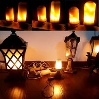 Wholesale Decoration Bulb - E27 2835SMD 7.5W 3 modes LED Flame Effect Fire Light Bulbs Flickering Emulation Decorative Flame Lamps For Christmas Halloween Decoration