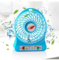 Wholesale Strong Led Battery - Portable Mini USB LED Fan Small Desk Pocket Handheld Air Rechargeable 18650 Battery Cooler Super Strong Wind For Home Office