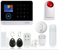 Wholesale Outdoor Siren Gsm - GSM wi-fi alarm system, German English multifunctional wireless WIFI security alarm system Wireless outdoor siren Wireless smok
