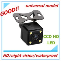 Wholesale Monitor Rear View Reverse Sensors - 50%Off 170 Degree HD 4 LED CCD Night Vision Backup Car Rear View Camera HD Video dash cameras dvrs Auto Parking sensors Monitor Reverse cams
