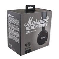 en iyi bluetooth kulaklık mikrofonu toptan satış-DHL Marshall MID Bluetooth kulaklıklar Ile Mic Derin Bas DJ Hi-Fi Kulaklık Profesyonel Marshall kulaklıklar bluetooth kulaklıklar En Iyi Hediye