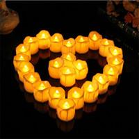 ingrosso mini artigianale luce-Mini Electronic Candle Creative LED Light Bougie Matrimonio Compleanno Halloween Christma Ornament Artigianato Regali Bianco 1 7rx C R