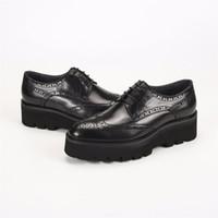 siyah platform oxfords toptan satış-Benzersiz siyah oxfords resmi platform ayakkabılar mens elbise ayakkabı hakiki deri düğün damat ayakkabı açık erkek rahat