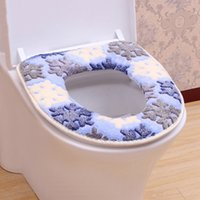 Wholesale Heating Toilet Seat - Free Shipping Sticky Toilet Mat Soft Warm Toilet Seat Heated Closestool Pad Washable Toilet Seat Cover