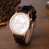 Wholesale Round Display Cases - 2017New Top Brand Men Watch Leather Strap Alloy Case Analog Display Luxury Quartz Watches Men Business Sports Montre Homme