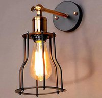 Wholesale vintage edison wire for sale - Group buy Industrial Edison Vintage Wall Sconce Lamp Light Wire Cage Shade Featured Lamp for bedroom hallway coffee bar LLFA