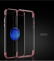 Wholesale Aluminium Electroplating - For iphone7 Electroplate TPU CASE Aluminium Frame Bumper Clear Crystal TPU cover case cases for Iphone 7 6 6s Plus samsung s6 s7