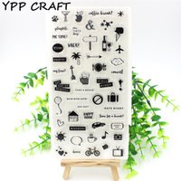 Großhandel- YPP CRAFT Kaffeepause Transparente klare Silikon Stempel für DIY Scrapbooking / Card Making / Kids Fun Dekoration Supplies Flower
