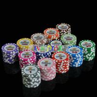 argile de jetons de poker achat en gros de-10 PCS / Set Couronne Dollar Casino Pièces Texas Holdem Clay Puces De Poker Haut de gamme Set Pokerstars14g Couleur Professionnel Jetons De Poker IVU