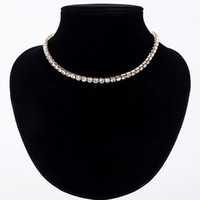 Wholesale sales jewelry for sale - Group buy Hot Sale New Women Crystal Rhinestone Collar Necklace Necklaces for girl Wedding Birthday Jewelry N062