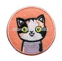film amblemi toptan satış-Sevimli Kedi Yama Işlemeli Animasyon Yama karikatür tv movie İşlemeli Amblem aplike demir on cadılar bayramı cosplay kostüm