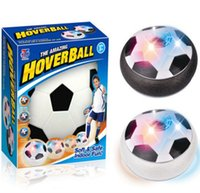 Wholesale Soft Led Toys - Led Air Power Soccer Ball Disc Indoor Football Toy Multi-surface Hovering and Gliding Toy Soft Foam Floating