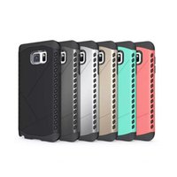 Wholesale Thick Phone Cases - Note5 Heavy Armor Phone Case For GALAXY Note 5 Thick 2in1 Hard PC & Rubber TPU Hybrid Air Cushion Dustproof Cover DHL Wholesale