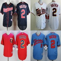 baseball men short men minnesota twins 2 brian dozier white red blue baseball jerseys throwback adul