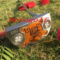 Wholesale Golf Screw - 2017 New golf putter Skull FastBack Putter Removable Weights Screw Steel Shaft golf Clubs