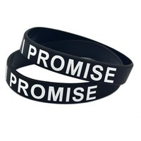 Wholesale i glow for sale – best 100PCS Printed I PROMISE Silicone Bracelet For Sport or Cancer Adult Size Colors Promotion Gift