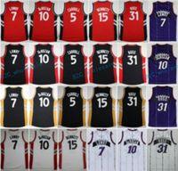 Wholesale 31 Jerseys - Newest 10 DeMar DeRozan 7 Kyle Lowry Throwback Jersey Purple Red Black White 31 Terrence Ross 5 DeMarre Carroll