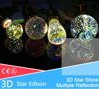 Globe square clear glass plate - Silver Plated Glass D Star LED Edison Bulb v A60 ST64 G80 G95 Holiday Christmas Decoration Bar LED Lamp Lamparas Bombillas
